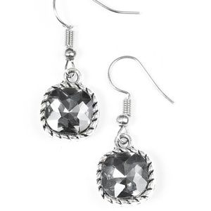 Gem Hunt Earrings- Silver and Grey